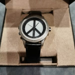 Lucky Brand | Peace Sign Women's Watch Black Band